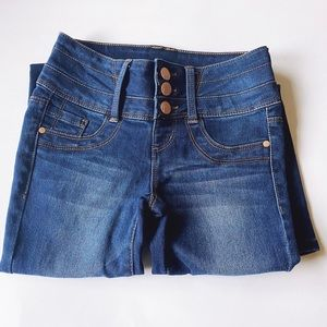 Blue Spice High-Waisted Button-Fly Jeans